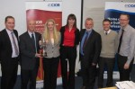 Phil Ward Xtratherm (Far Left) during the presentation of the NI Heat of the CIOB - for web
